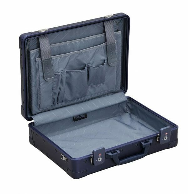 Aluminum briefcase for business and laptops