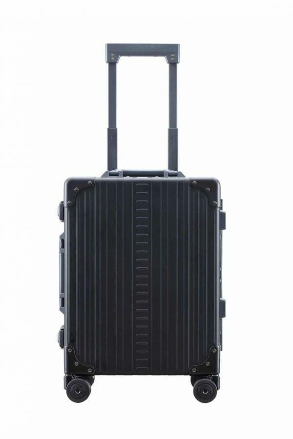 International Carry-On Luggage Black 19 inch aluminum carry on suitcase