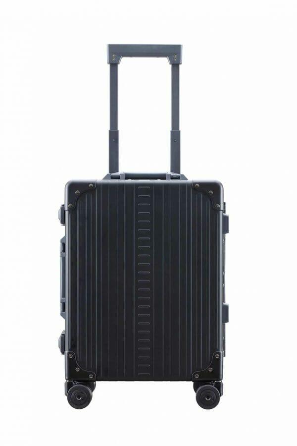 International Carry-On LuggageBlack 19 inch aluminum carry on suitcase