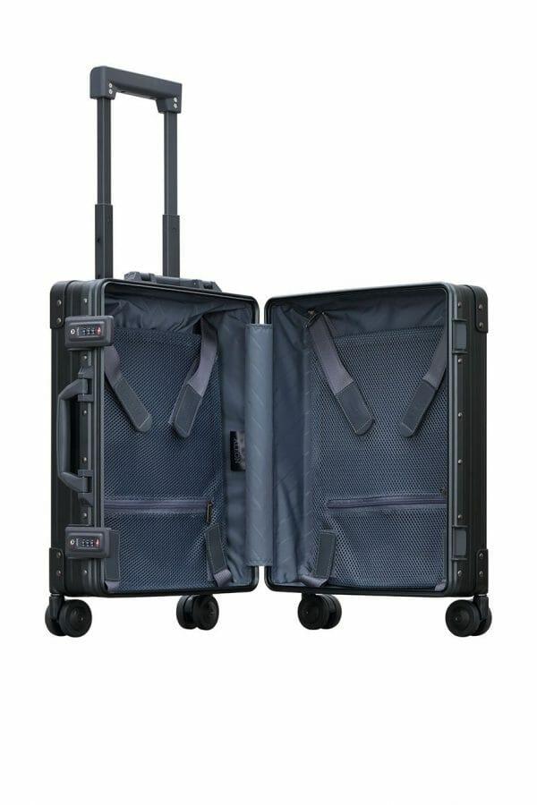 International Carry-On Luggageopened suitcase for international travels