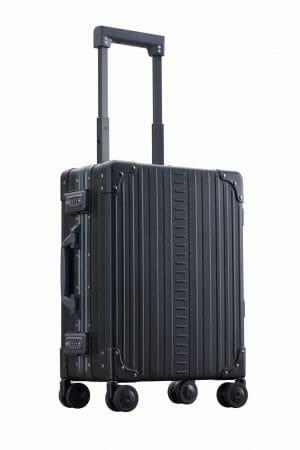 International Carry-On Luggageblack aluminum suitcase