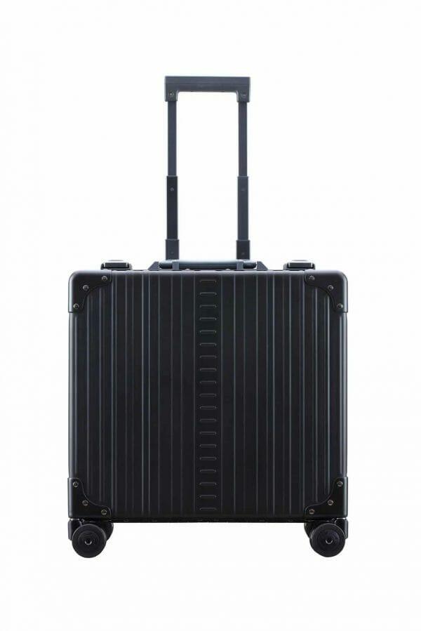 Vertical wheeled laptop case black briefcase aluminum
