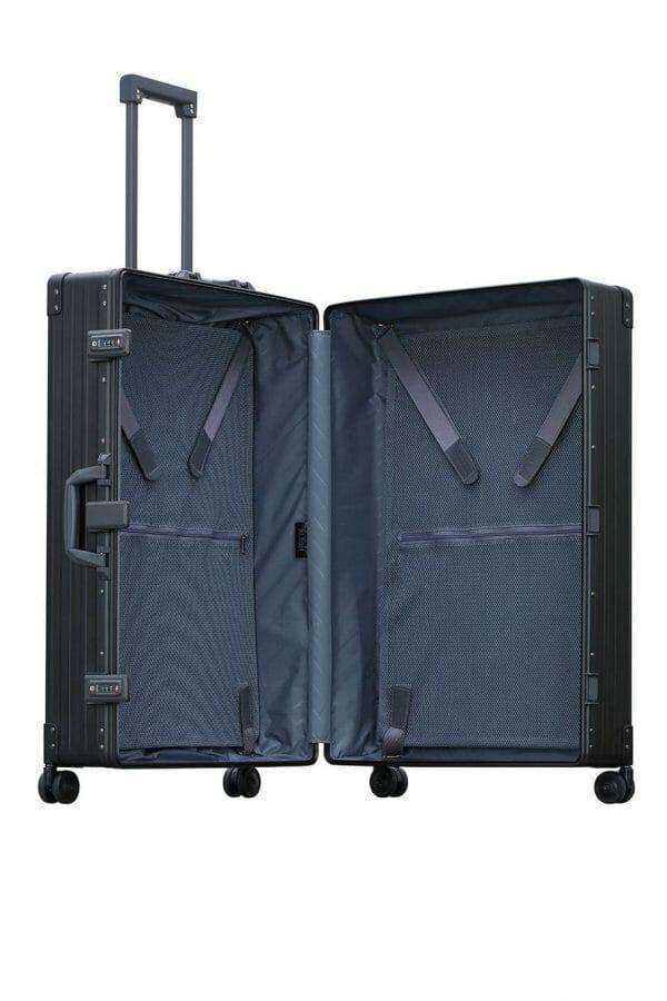 large luggage made with aluminum