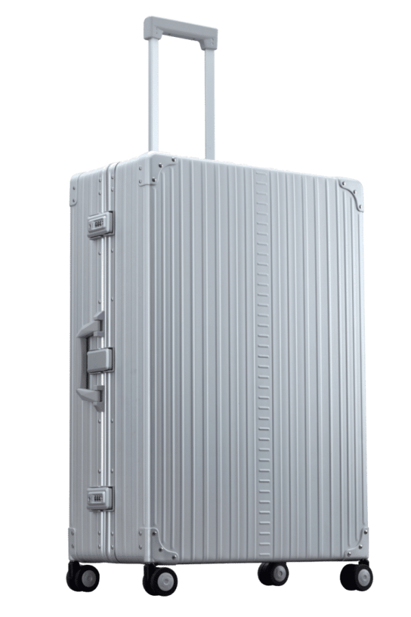 large luggage made with aluminum