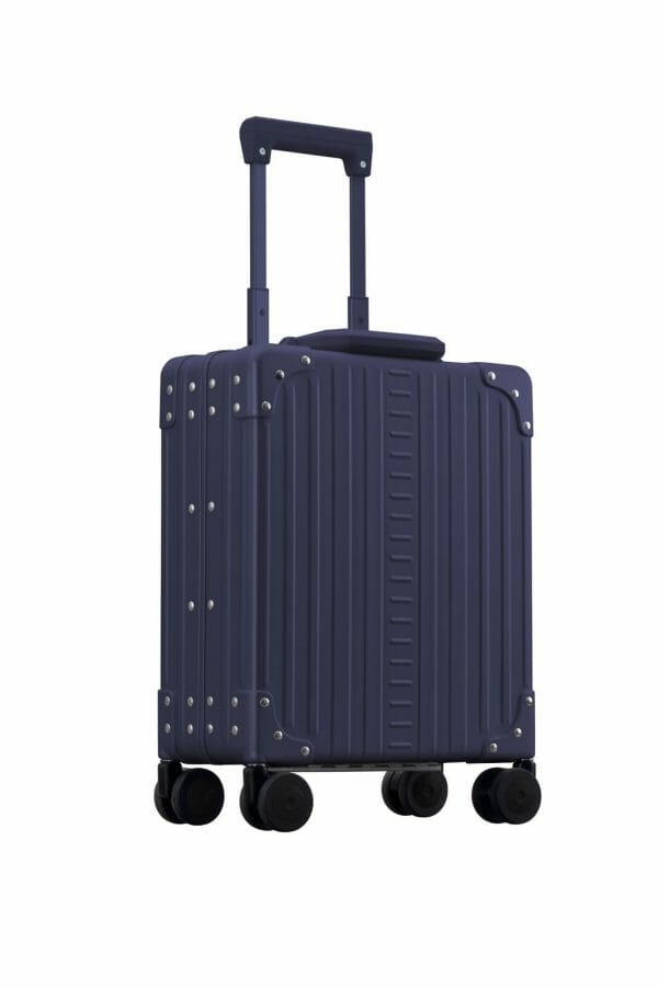 laptop case Blue aluminum brief case with handle extended