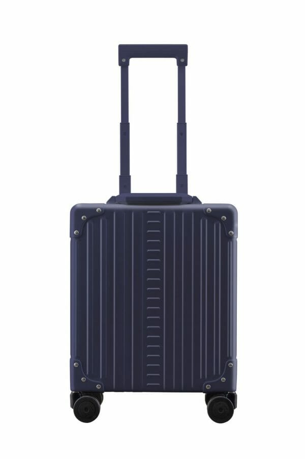 laptop case blue briefcase with 4 wheels and made form aluminum
