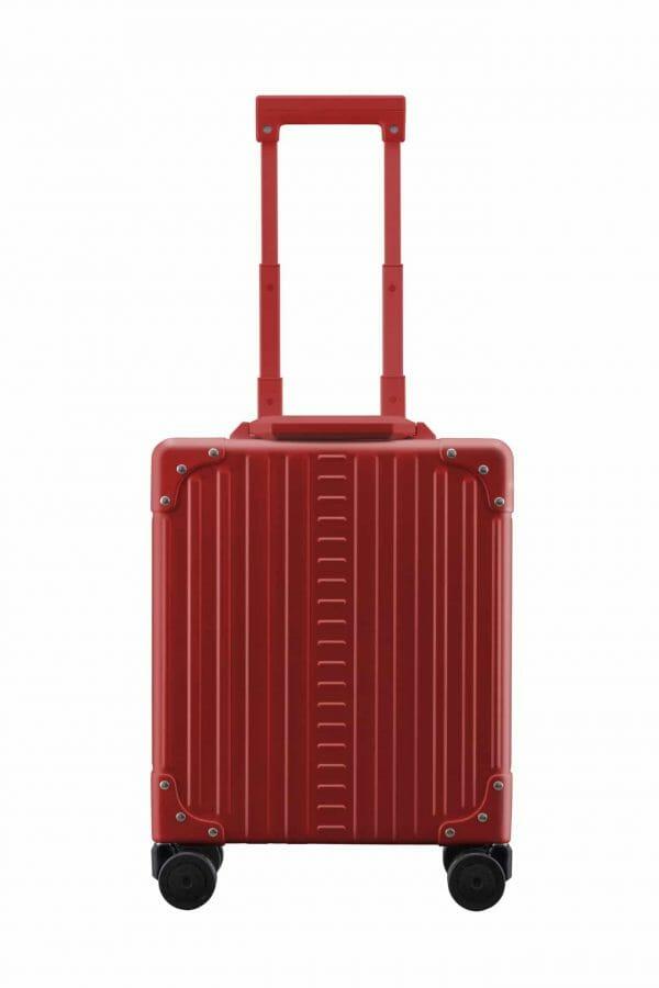 Red aluminum luggage