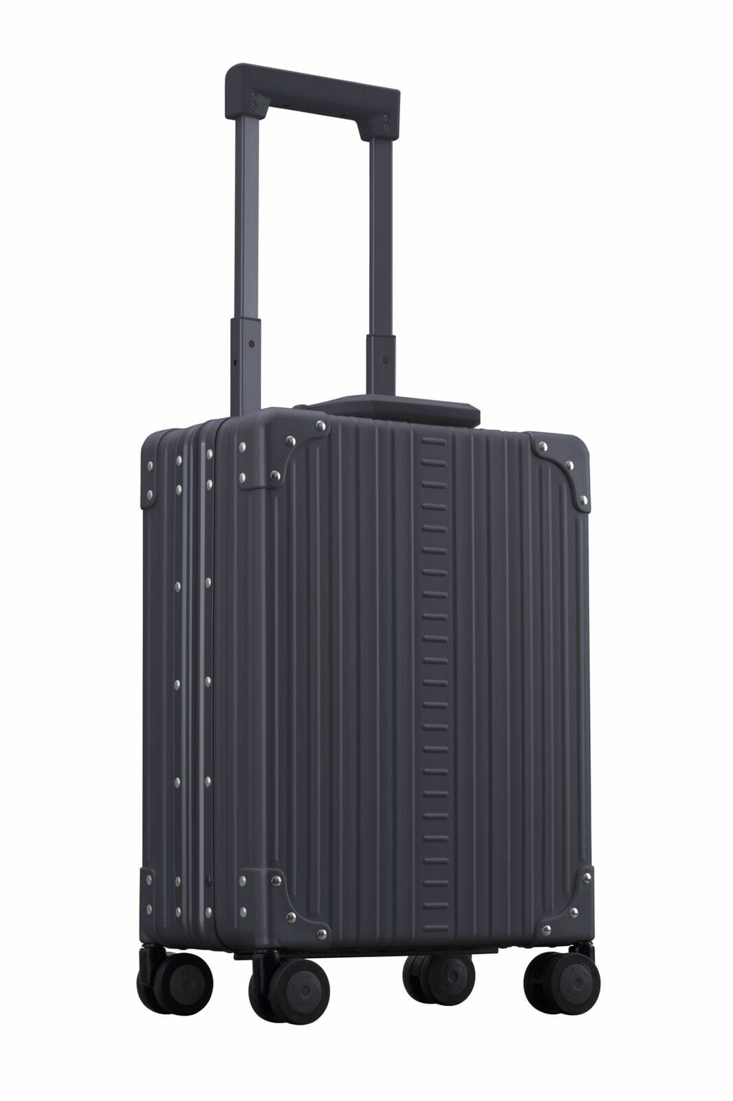 Black 20 vertical business carry on aluminum suitcase