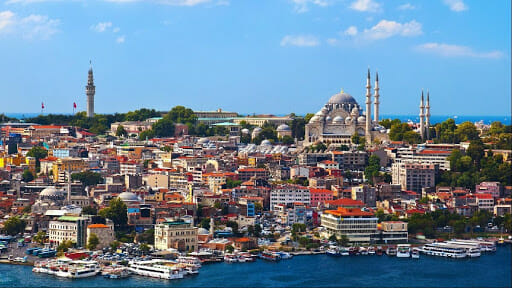 City on the cost in turkey